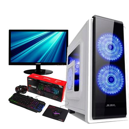PC Intel G5400 Gold Asus 8GB SSD 240GB Nvidia GeForce GT 1030 2GB + Monitor 22 FHD + Kit Gamer