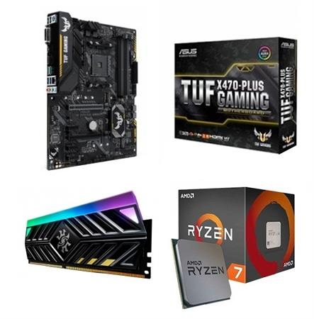 AMD Ryzen 7 2700 ASUS TUF X470 PLUS GAMING 8GB DDR4 3000Mhz aData XPG Spectrix