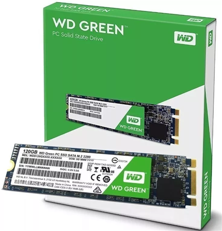 SSD M.2 SATA3 WD GREEN 120GB
