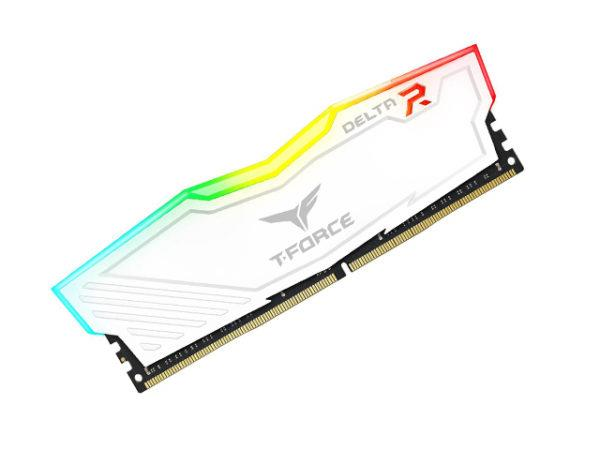 MEM DDR4 TEAM 8GB 2666MHZ DELTA WHITE RGB